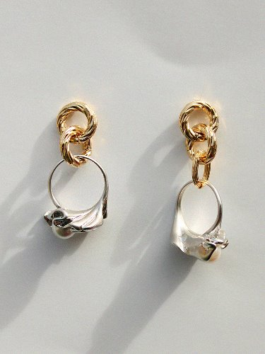 Mother's Ring drop earring