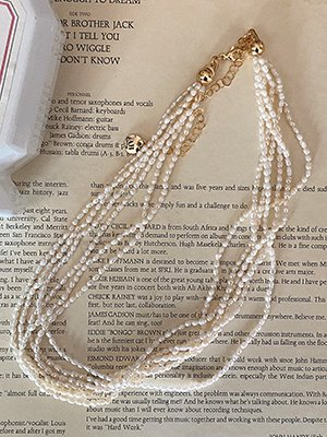 Seed pearl layerd  necklace