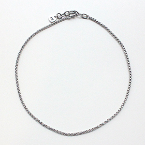 [CAPSULE] Box chain Necklace [silver]