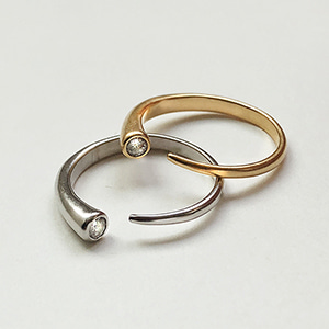 Newmoon Ring 1+1 [2color]
