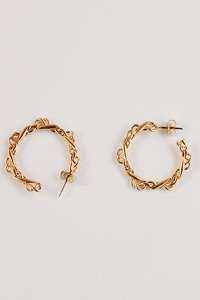 Lace hoop earring [2color]