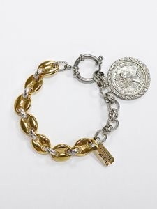 Volumous Queen coin bracelet