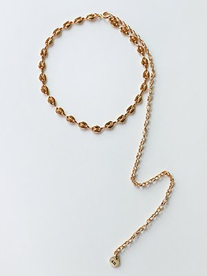 Pig chain twoway Necklace Gold