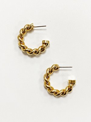 French Rope Hoop Earring