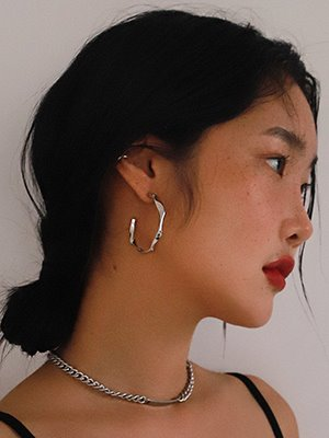 Big Hammer Hoop Earring