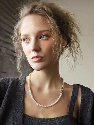 Love locks pearl twoway necklace