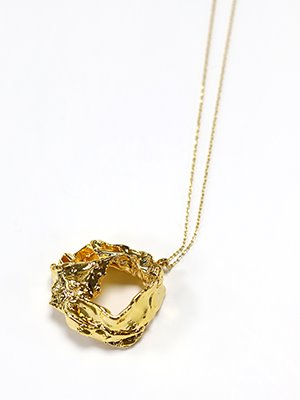 Gold paper pendant necklace