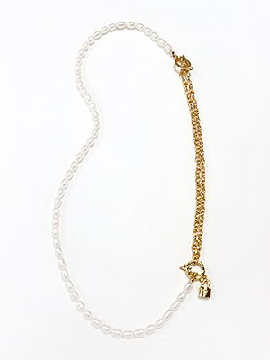 Mixed pearl twoway necklace