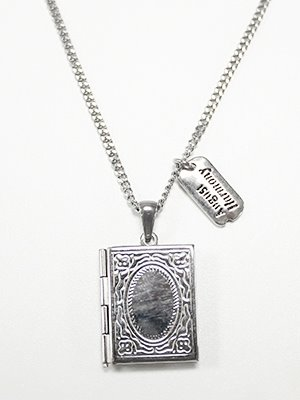Vintage frame necklace Silver