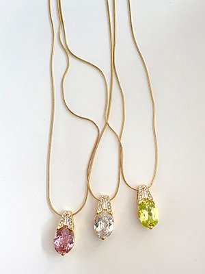 Fancy crystal Necklace 3color