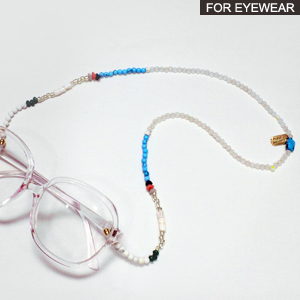 Havana beaded sunglass chain