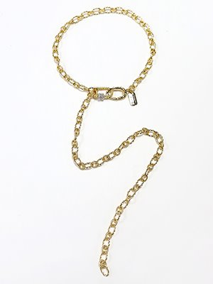 Carabiner rope twoway necklace