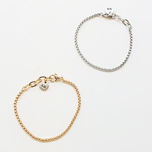 [CAPSULE] Box chain Bracelet [2color]