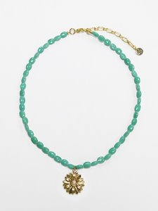 Daisy gemstone necklace [Mint]