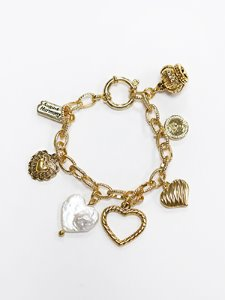 Queen's Heart charm Bracelet [2color]