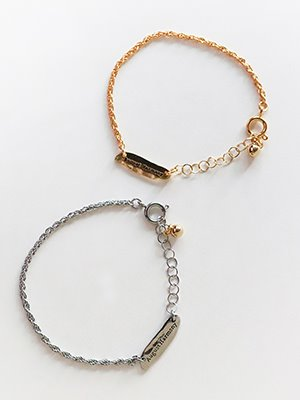 Thin Basket chain Bracelet