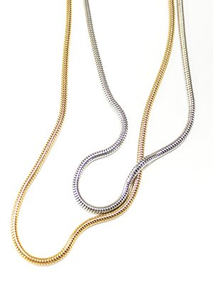 Bold snake chain necklace 2color