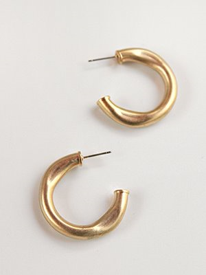 Chunky push hoop earring [2color]