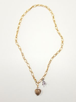 Love and peace necklace Gold