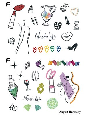 [FAKE.TTT] Nostalgia Tattoo Sticker SET